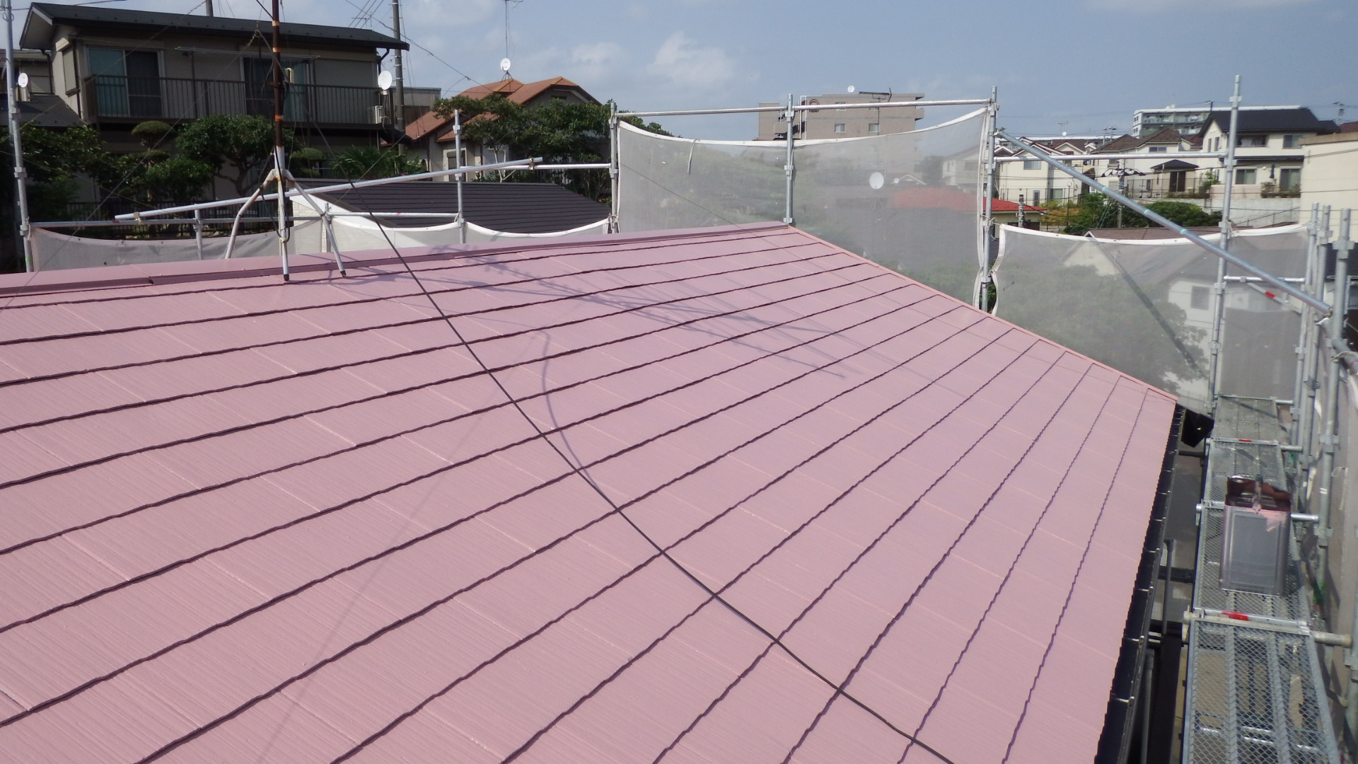 屋根塗り終わり